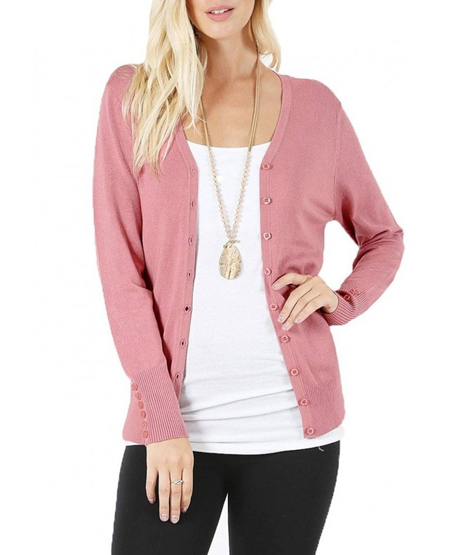 JNTOP Womens Button Cardigan Sweaters