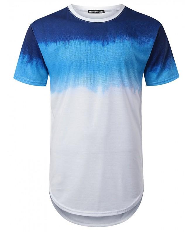 URBANTOPS Hipster Longline T shirt WHITE