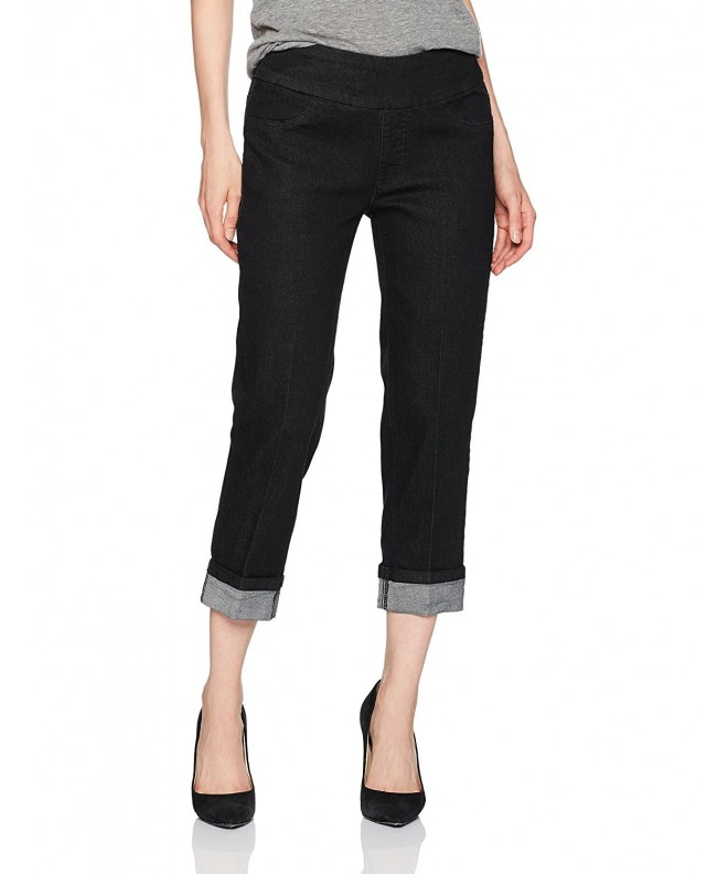 SLIM SATION Womens Pull Boyfriend Cuffed
