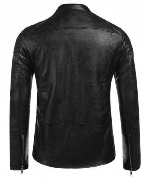 Men's Faux Leather Coats Outlet