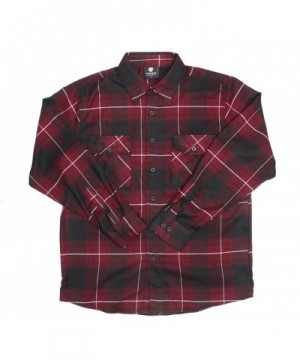 YAGO Flannel Sleeve Button Burgendy