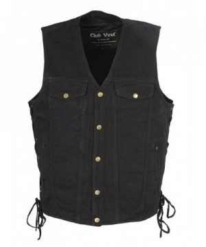 Club Vest Denim Chest Pockets