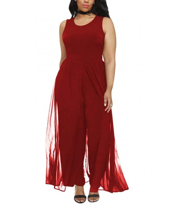 Linsery Elegant Sleeveless Chiffon Jumpsuits