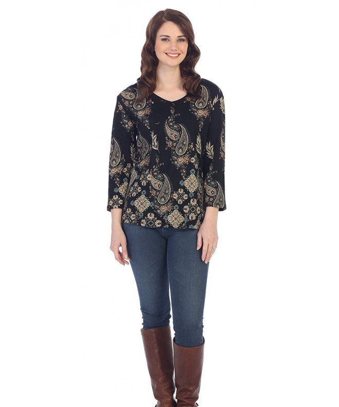 Jess Jane Paisley Cotton 15 1099BLK