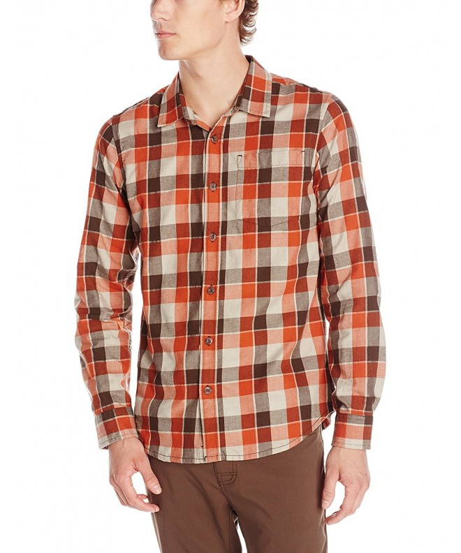 prAna Mens Huntly Shirt Small