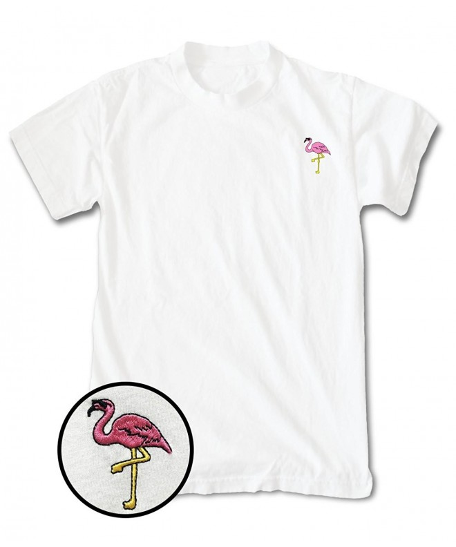 Riot Society Flamingo Embroidered T Shirt