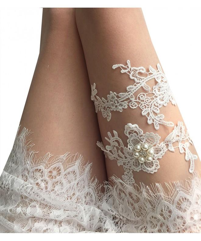 YuRong Wedding Flower Garter Krystal