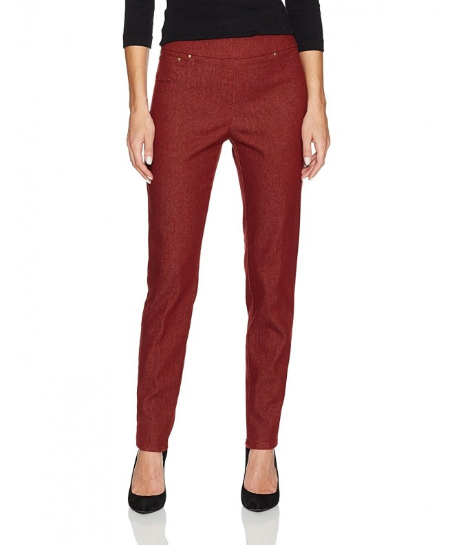 Ruby Rd Colored Stretch Burgundy