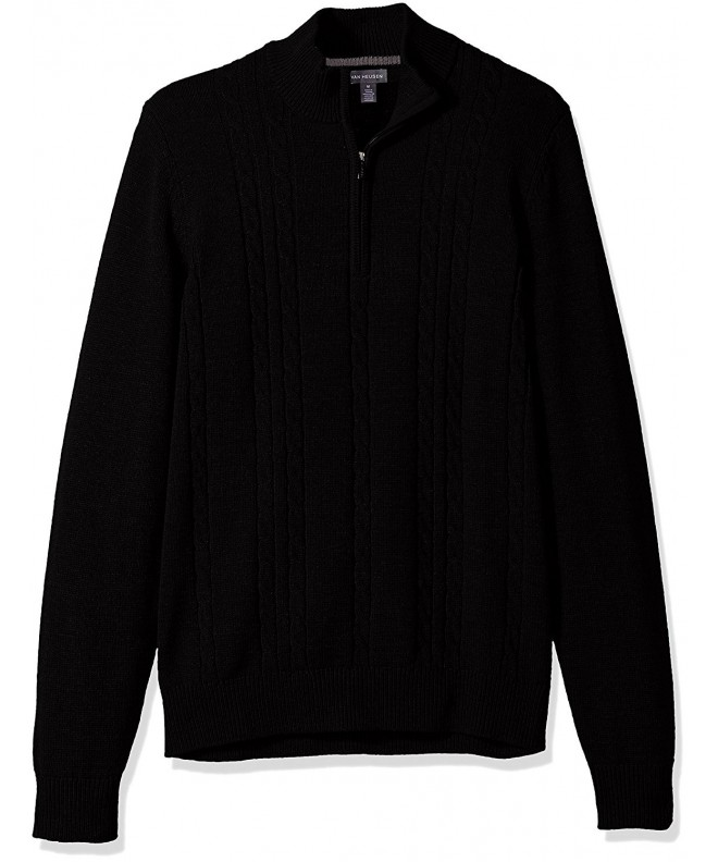 Van Heusen Cable Sweater Black