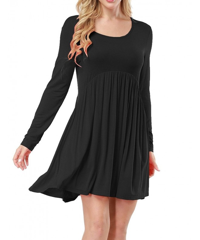 Allegrace Sleeve Ruched Pleated Dresses