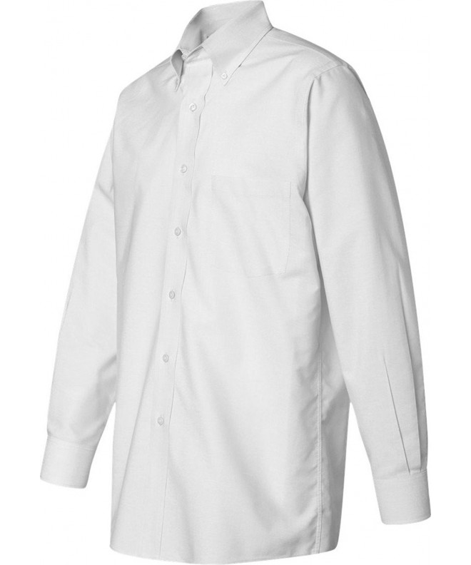 Van Heusen Long Sleeve Pinpoint WHITE L