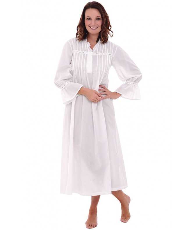 Alexander Del Rossa Nightgown A0522WHTLG
