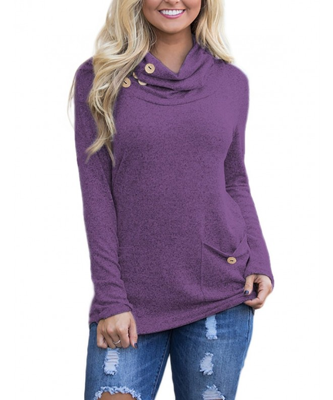 REDHOTYPE Womens Casual Sleeve Pockets