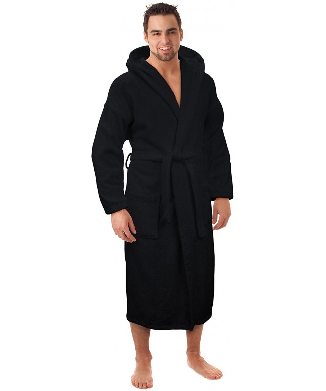 Hooded Terry Bathrobe Turkey Black