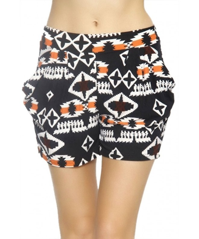 ToBeInStyle Womens pixelated Aztec Shorts