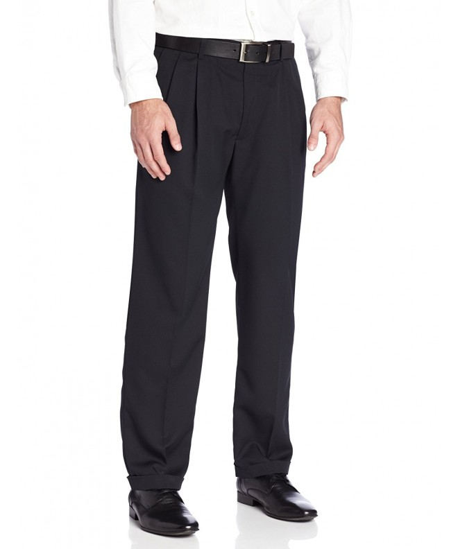 Haggar Herringbone Expandable Waist Pleat