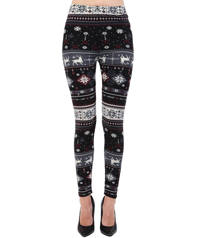 VIV Collection Printed Leggings Reindeer