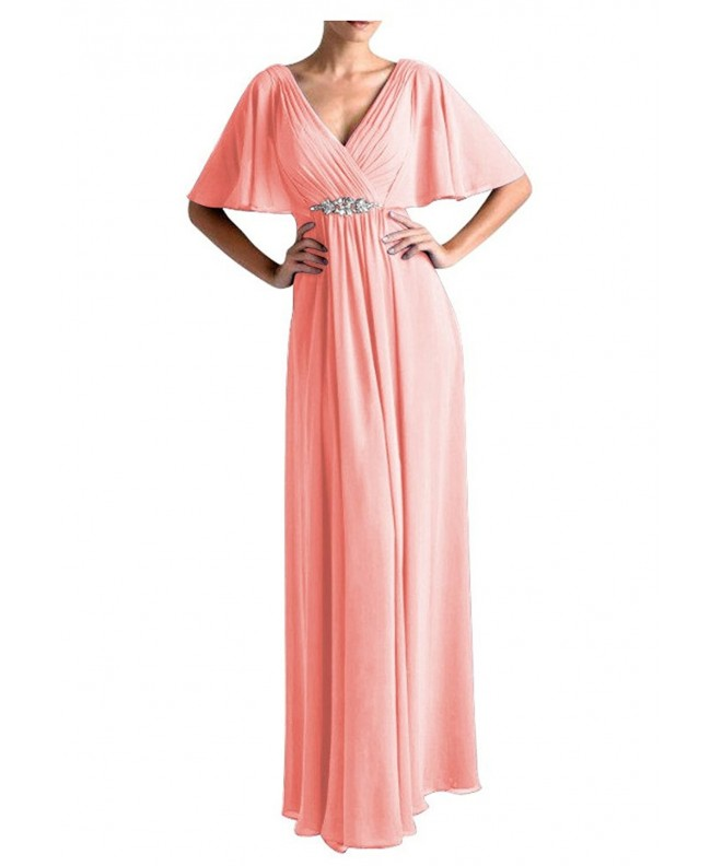 QINGYUAN Womens Flutter Evening Dresses