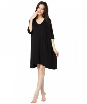 Aibrou Womens T Shirt Nightshirt Sleepwear