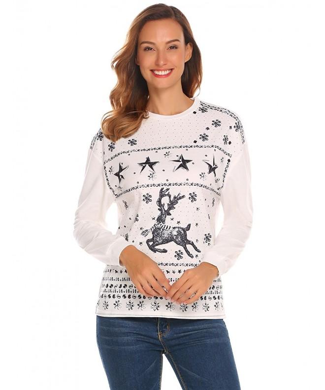 Reindeer Christmas Knitted Sweatshirt Pullover