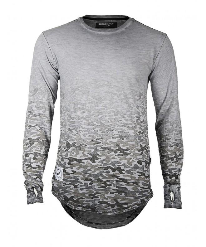 Sleeve Camouflage Longline T shirts Slate FBAmazon