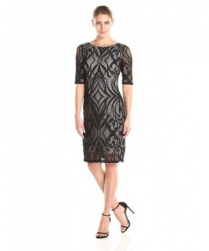 Sandra Darren Womens Sleeve Sheath