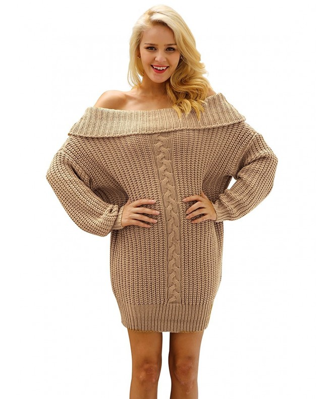 Simplee Shoulder Oversize Pullover Sweater