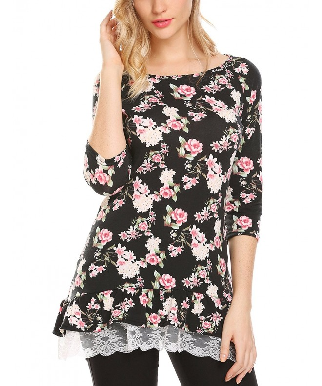 Mofavor Womens Casual Sleeve Printed