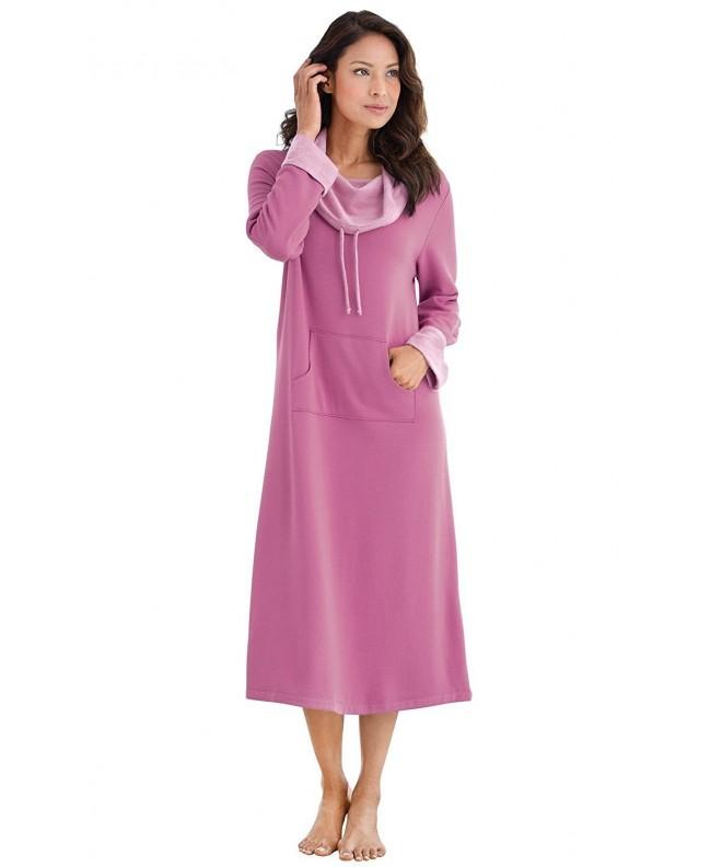 PajamaGram Womens Softest Nightgown Raspberry
