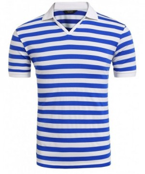 COOFANDY Fashion Shirts Striped T Shirt