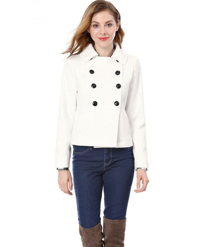 Allegra Womens Breasted Sleeves Peacoat