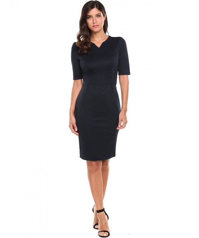 Hotouch Womens V Neck Sheath Dress