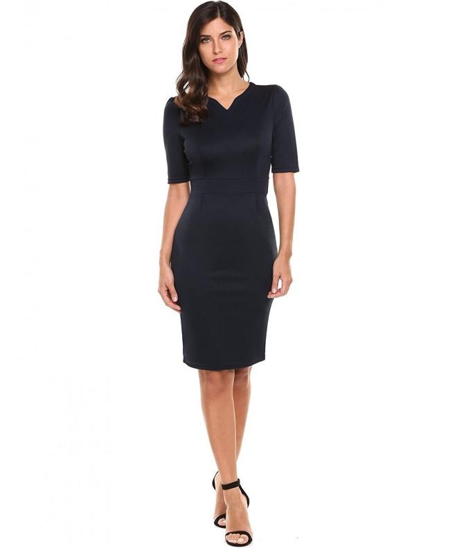 Hotouch Womens V Neck Sheath Dress