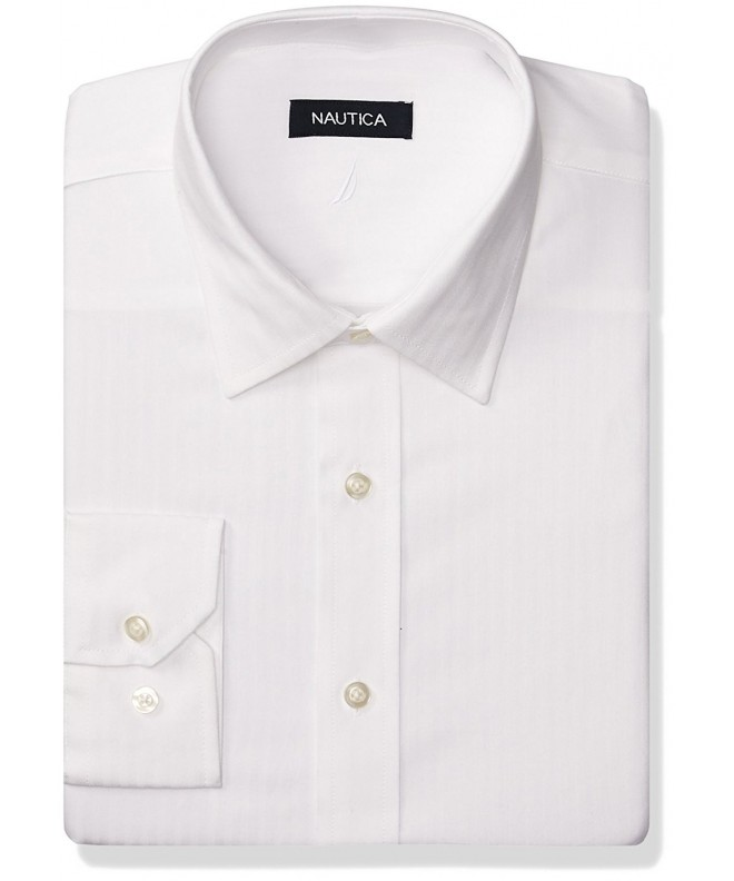Nautica Mens Stripe White 16 5
