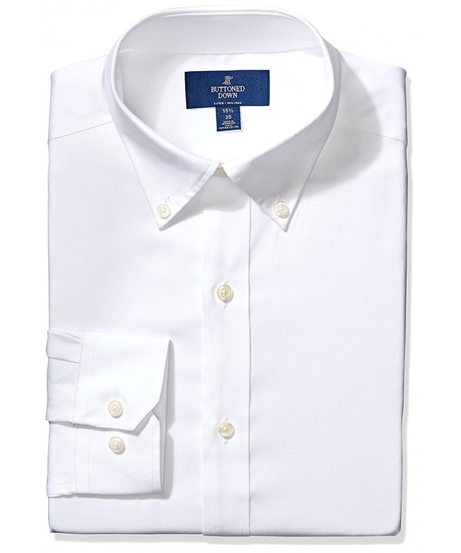 Buttoned Down Fitted Button Collar Non Iron