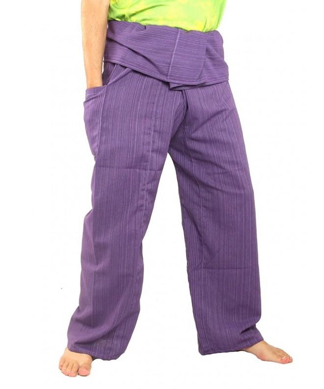 Fisherman Pants Cotton X Long Purple