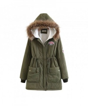 Liran Womens Winter Cotton Padded Armygreen
