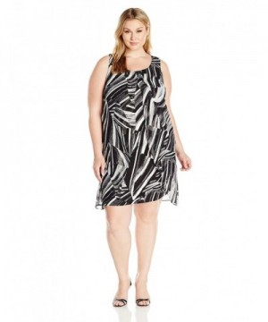 Notations Womens Overlay Printed Colormop