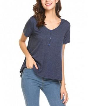 Yhlovg Womens Cotton Sleeve Henley