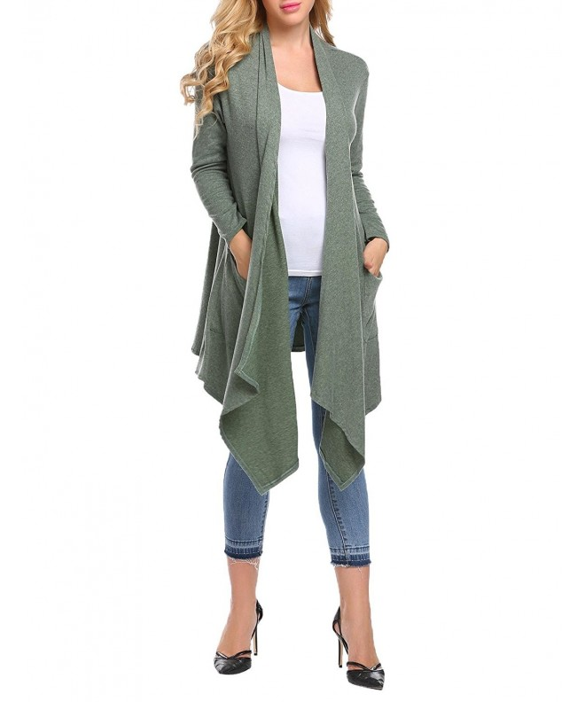 Bifast Irregular Waterfall Outwear Cardigan