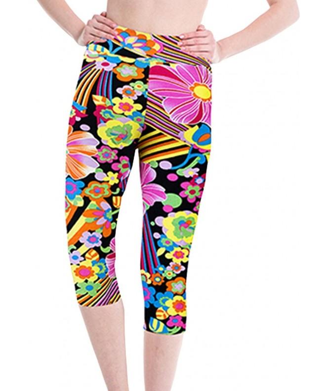 Womens Printed Sports Workout Leggings