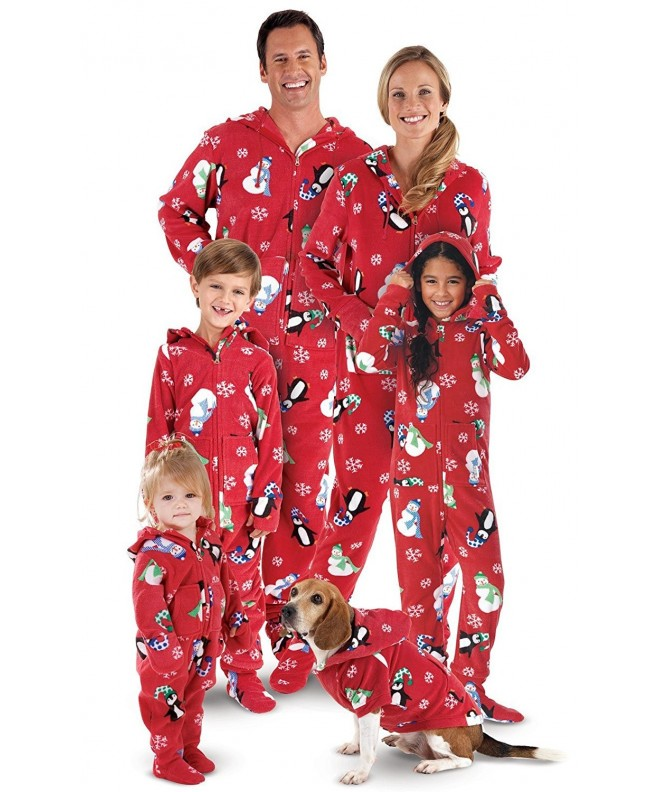 PajamaGram Hoodie Footie Winter Whimsy Matching