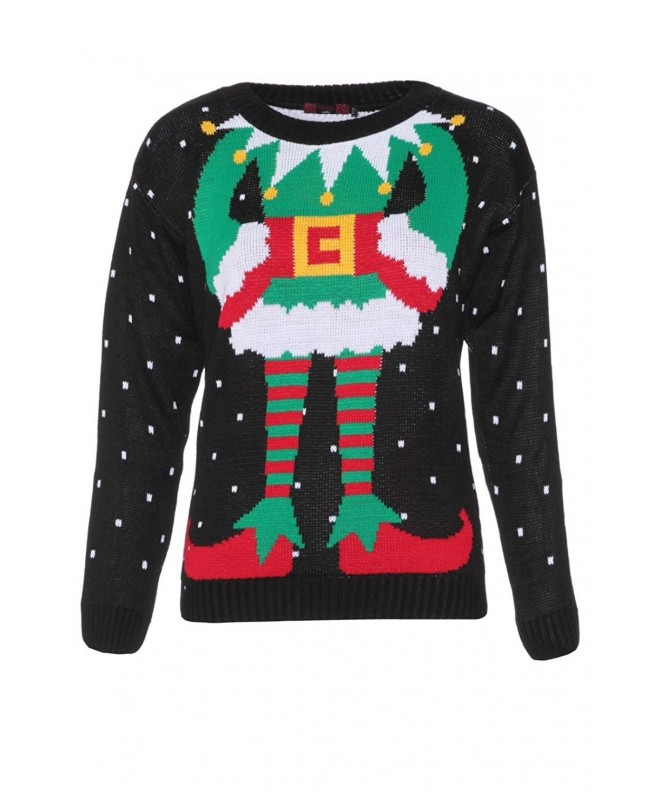 Womens Christmas Sweater Black Jumper