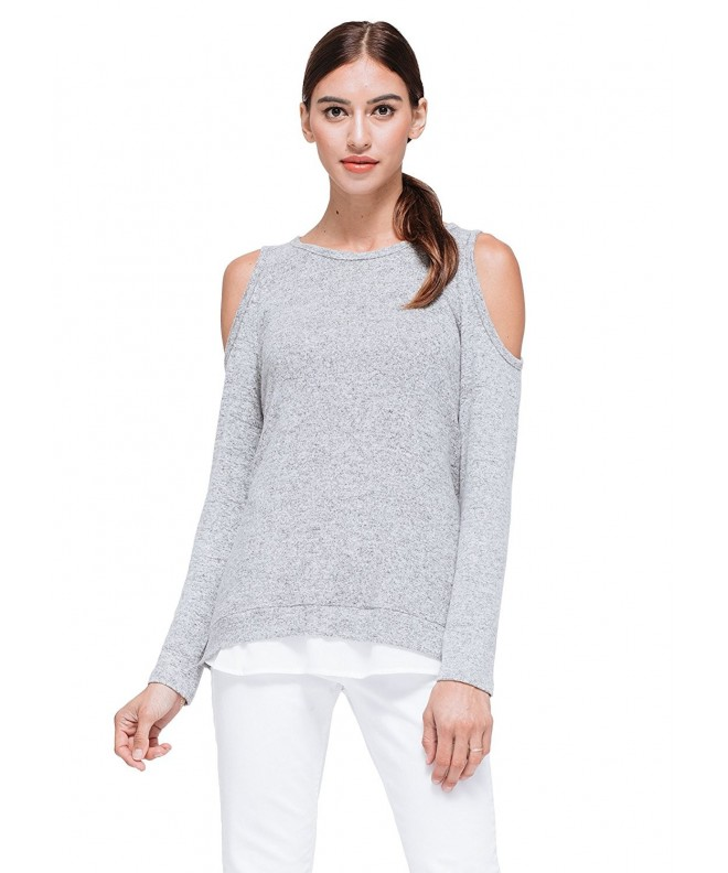 Pleione Layered Sleeve Shoulder GreyWhite
