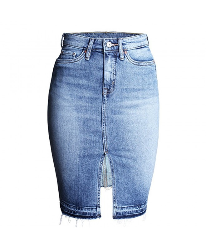 Felove Womens Denim Pencil Skirt
