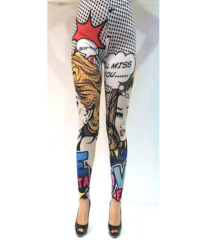 ChuChi womens comic printed leggings