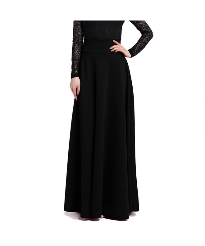 Women Elegant Skirts Black Large