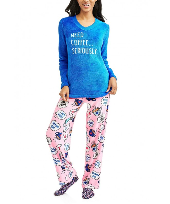Coffee Seriously Print Fleece Pajama