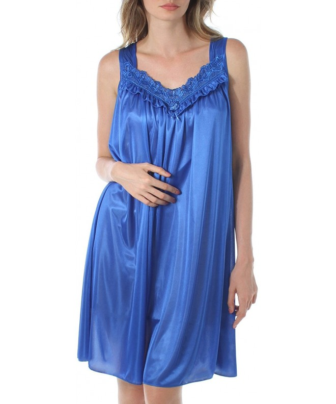 Venice Looking Embroidered Nightgown X Large