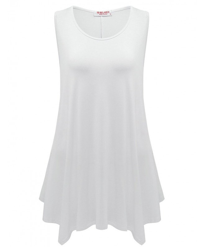 BELAROI Womens Sleeveless 1X White